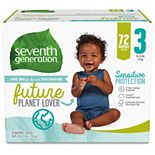 Seventh Generation Sensitive Protection Baby Diapers Stage 3 (16-21lbs) - 72 count
