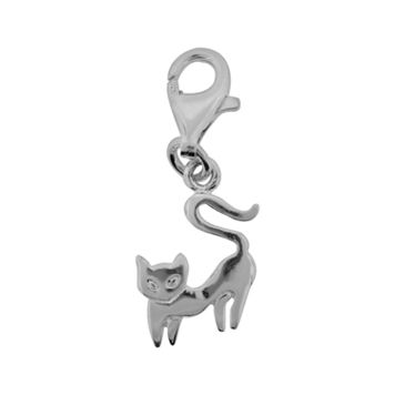 Personal Charm Sterling Silver Cat Charm