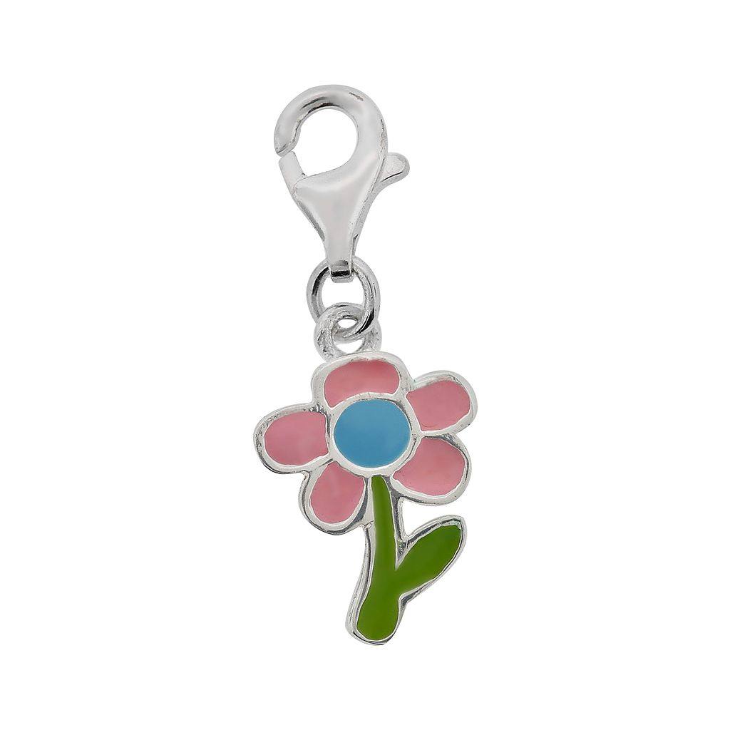 Personal Charm Sterling Silver Floral Charm