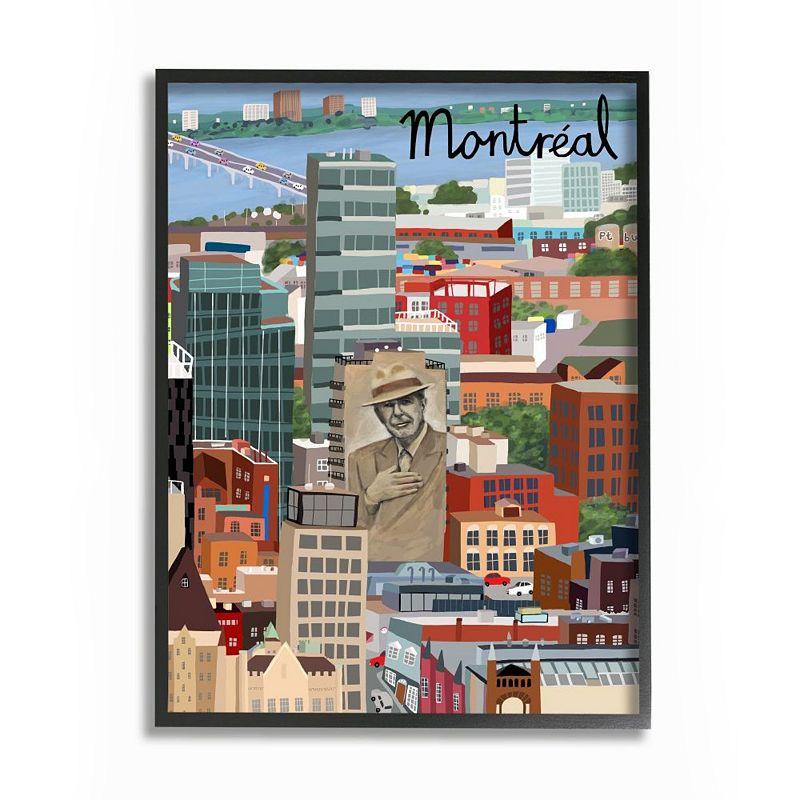Stupell Home Decor Montreal Framed Wall Art, 11X14