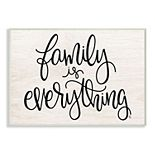 Stupell Home Decor Family Is Everything Plaque Wall Art