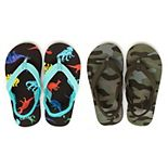 Carter's Sendai Toddler Boys' 2-Pack Flip Flop Sandals Set