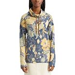 Women's Chaps Print Cowlneck French Terry Top