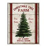 Fine Art Canvas Christmas Tree Farm Wall Art