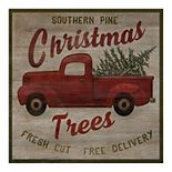 Fine Art Canvas Southern Pine Tree Truck Wall Art