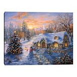 Master Piece Christmas Cottage Wall Art