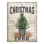 Fine Art Canvas Rustic Christmas Tree Wall Art