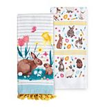 Celebrate Easter Together Mom & Baby Bunny Kitchen Towel 2-pk.