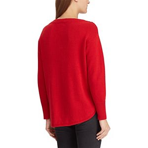 Women's Chaps Braided-Inset Boatneck Sweater