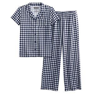 Kids 7-16 Jammies For Your Families® Gingham Pajama Set
