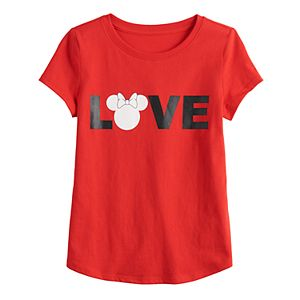 "Disney's Minnie Mouse Toddler Girl ""Love"" Graphic Tee by Family Fun?"