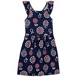 Girls 4-14 Carter's Americana Floral Flutter Dress