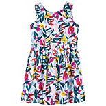 Girls 4-14 Carter's Tropical Linen Dress
