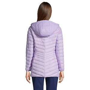 Petite Lands' End Hood Ultralight Down Long Packable Coat