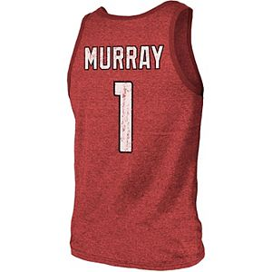 Men's Majestic Threads Kyler Murray Cardinal Arizona Cardinals Player Name & Number Tri-Blend Tank Top