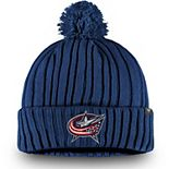 Men's Fanatics Branded Navy Columbus Blue Jackets Basic Cuffed Knit Hat with Pom