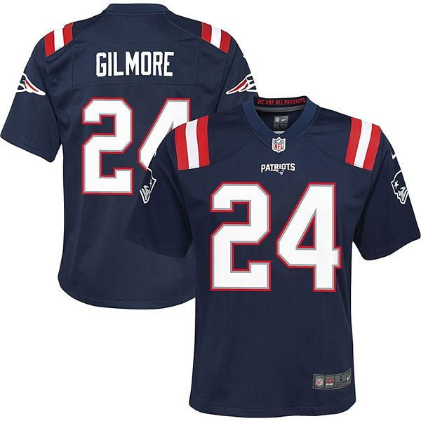 Youth Nike Stephon Gilmore Navy New England Patriots Player Game Jersey