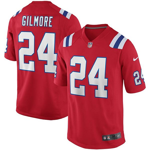 Men's Nike Stephon Gilmore Red New England Patriots Alternate Game Jersey
