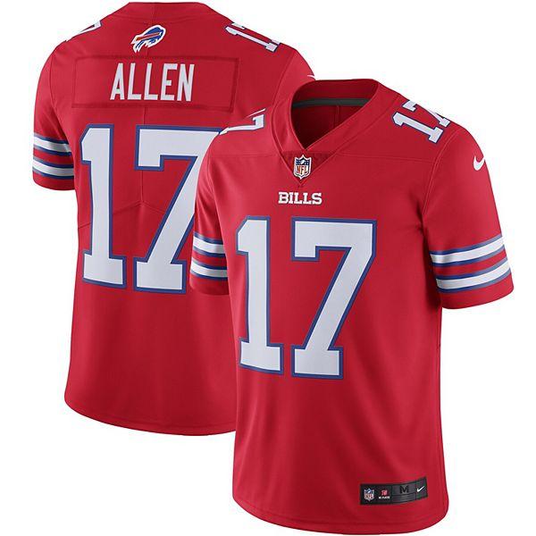 Men's Nike Josh Allen Red Buffalo Bills Color Rush Vapor Limited Jersey