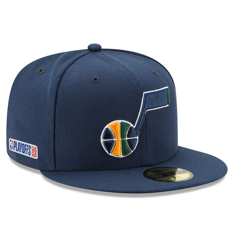 Men's New Era Navy Utah Jazz 2020 NBA Playoffs Bound 59FIFTY Fitted Hat, Size: 7 3/4, Blue