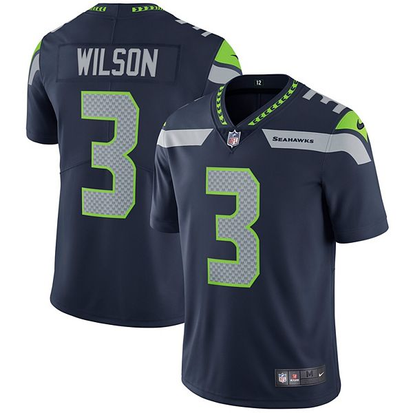 Men's Nike Russell Wilson College Navy Seattle Seahawks Vapor Untouchable Limited Player Jersey