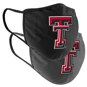 Adult Colosseum Texas Tech Red Raiders Logo Face Covering 2-Pack