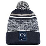 Youth Nike Navy/White Penn State Nittany Lions Sideline Cuffed Knit Hat with Pom