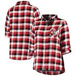 Women's Concepts Sport Red/Black Kansas City Chiefs Plus Size Breakout Flannel Nightshirt