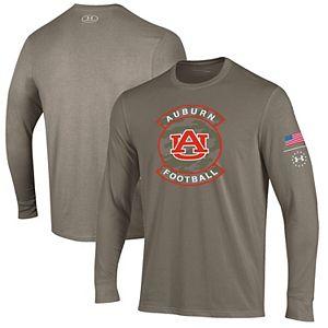 Men's Under Armour Brown Auburn Tigers Military Appreciation Performance Long Sleeve T-Shirt