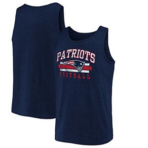 Men's NFL Pro Line by Fanatics Branded Navy New England Patriots Distressed Logo Tank Top