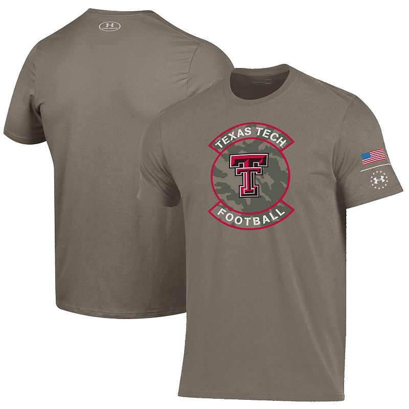 Men's Under Armour Brown Texas Tech Red Raiders Military Appreciation Performance T-Shirt, Size: Large