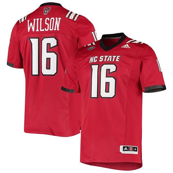 Men's adidas Russell Wilson Red NC State Wolfpack Alumni Football Jersey