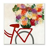 Stupell Home Decor Bicycle Seat Floral Bouquet Whimsical Flower Lines Wall Art
