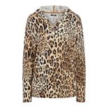Women's Chaps Hooded Print Top