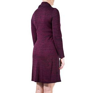 Women's Nina Leonard Cowlneck Sweaterdress