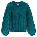Girls 4-7 Lands' End Chenille Blouson Sleeve Sweater
