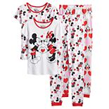 Disney's Minnie Mouse Loves Mickey Girls 4-8 4-Piece Pajama Set