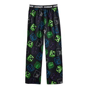 Boys 4-16 Minecraft Night Scene Pajama Pants in Regular & Husky
