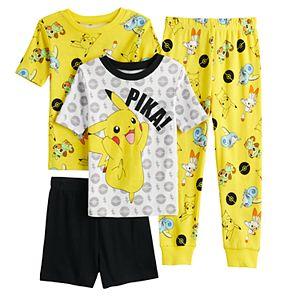 Boys 6-12 Pokemon Pikachu Sword Tops, Shorts & Pants Pajama Set