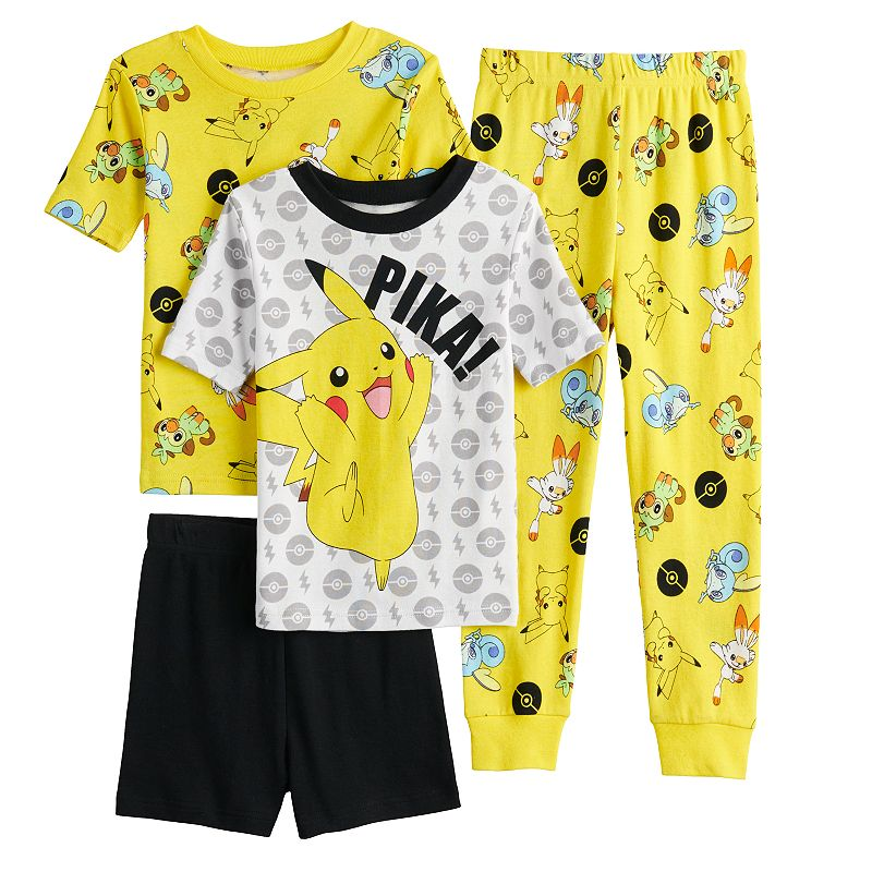 Boys 6-12 Pokemon Pikachu Sword Tops, Shorts & Pants Pajama Set, Boy's
