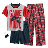Boys 4-12 Up-Late 3-Piece Pajama Set