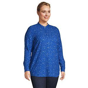 Plus Size Lands' End Plaid Flannel Tunic Top