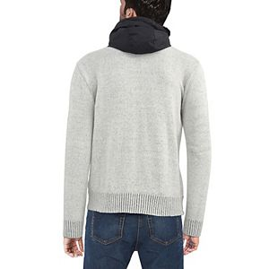 Men's X-Ray Full-Zip Hooded Sweater Jacket