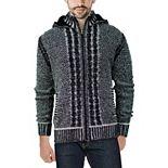 Men's Xray Hooded Full-Zip High-Neck Sweater Jacket