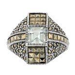 Lavish by TJM Sterling Silver Green Amethyst Ring