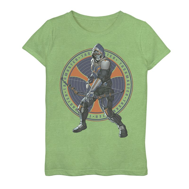 Girls 7-16 Marvel Black Widow Taskmaster Logo Overlay Graphic Tee, Girl's, Size: XL, Green