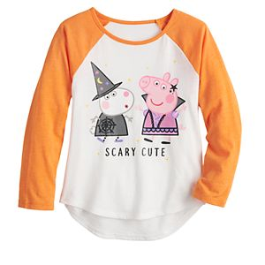 """Toddler Girl Jumping Beans® Peppa Pig """"Scary Cute"""" Halloween Graphic Tee"""