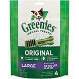 Greenies Original Large Natural Dental Dog Treats - 6-oz. Pack (4 Treats)