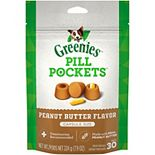 Greenies Pill Pockets Capsule Size Natural Dog Treats With Real Peanut Butter - 7.9-oz. Pack (30 Treats)