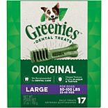 Greenies Original Large Natural Dog Dental Care Chews Oral Health Dog Treats - 27-oz. Pack (17 Treats)